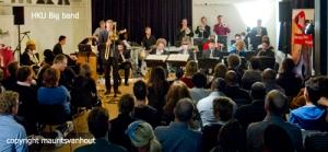 De HKU Big Band met Don Byron, olv Ilja Reijngoud stond in een te kleine zaal, maar wist te overtuigen...