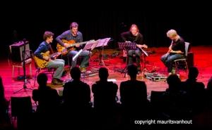 Timon Koomen's gitaarkwartet was leuk en vermakelijk.