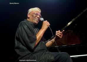 randy weston gefotografeerd op Jazz Middelheim 2013
