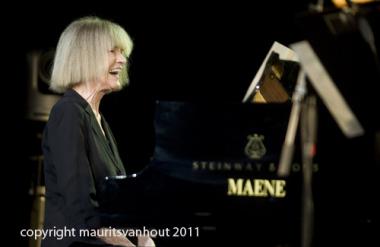 Carla Bley live op Jazz Middelheim 2011. copyright maurits van hout