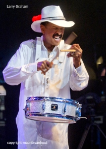 Larry Graham and Graham Central Station live op gent jazz 2012 met het metropole orkest. Copyright maurits van hout