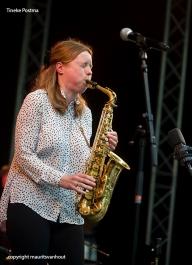 Het Tineke Postma kwartet live op jazzfestival Middelburg.