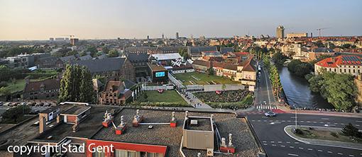 Het festival vanuit de lucht gezien. copyright foto Stad Gent