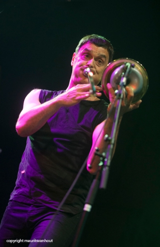 Oaktree live op Gent Jazz 2014 Op de foto: Michel Massot.