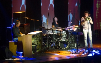 25.10.2014 belgrado Jazzfest Belgrade, Nils Wogram trio Photo: Nils Wogram trio