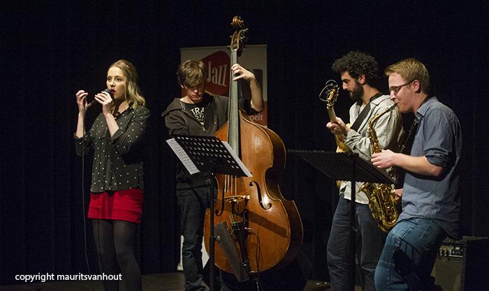 Het Lisanne Jacobs Kwartet verrichte de muzikale aftrap bij de nieuwe reeks concerten in Tivoli/Vredenburg.