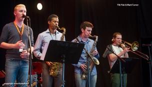 Flik Flak met Mark Turner tijdens Gent Jazz 2015