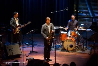 26.2.2015 Amsterdam Chris Potter trad op in het Bimhuis met zijn trio Foto: