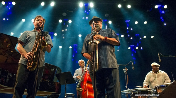 Chris Potter and Joe Lovano live at Jazz Middelheim 2015