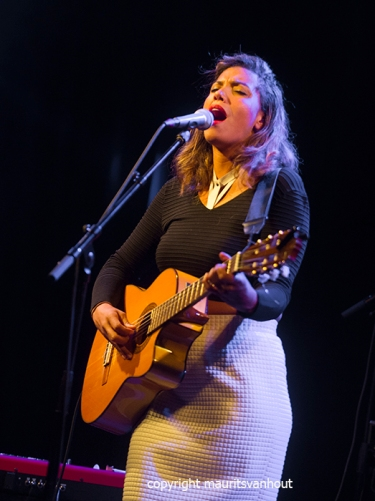 """Amsterdam, 30-9-2015. """"Chloe Charles presents her 2nd cd With Blindfolds on""""."""