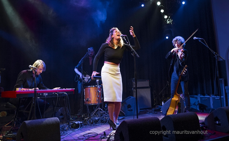 "Amsterdam, 30-9-2015. ""Chloe Charles presents her 2nd cd With Blindfolds on""."