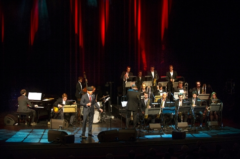 Laren Jazz 2015. Tribute to Frank Sinatra met Dutch concert Big Band, Mathilde Santing, Johanette Zomer en Frank in Person