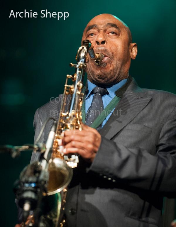 foto van archie shepp quartet live op Jazz Middelheim 2010 in Antwerpen