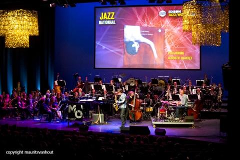 Rotterdam, 24 juni 2016 Uitreiking Edison Awards in Nieuwe Luxor Theater.Foto: Yuri Honing won de prijs voor jazz nationaal met zijn kwartet en trad op.
