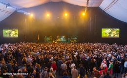 Gent 2016, audience before a concert in the main tent.
