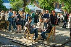 sfeer op Gent Jazz 2016; photo: area between mainstage and garden stage
