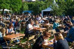 sfeer op Gent Jazz 2016; garden area