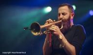 Antwerpen, 12 augustus 2016. Avishai Cohen speelt met zijn kwartet tijdens Jazz Middelheim 2016.