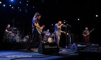 Antwerpen, 12 augustus 2016. Avishai Cohen speelt met zijn band project Big Vicious tijdens Jazz Middelheim 2016.