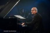 Antwerpen, 12 augustus 2016. Ludovico Einaudi tijdens Jazz Middelheim 2016.