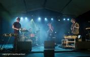 Antwerpen, 12 augustus 2016. Granvat tijdens Jazz Middelheim 2016.