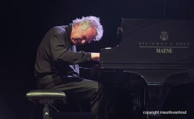 Antwerpen, 15 augustus 2016. Pharoah Sanders speelt samen met Joachim Kühn en Zakir Hussain live op Jazz Middelheim 2016. foto: Joachim Kühn