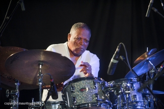 Antwerpen, 13 augustus 2016. Jazz Middelheim. Eric Thielemans treedt op samen met drummer Billy Hart.Foto: Billy Hart