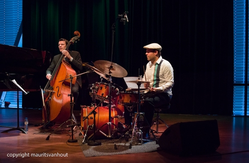 Amsterdam, 25 mei 2017. Trio Vein trad op in het Bimhuis in Amsterdam. Foto: Thomas Lähns, Florian Arbenz