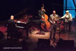 Amsterdam, 25 mei 2017. Trio Vein trad op in het Bimhuis in Amsterdam. Foto: Trio Vein met speciale gast Greg Osby