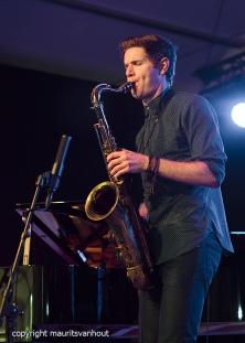 Gent, 7 juli 2017. Tijdens het jaarlijkse Gent Jazz festival treedt Ben Wendel Group op. foto: Ben Wendel