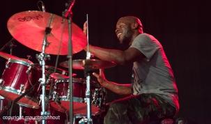 Gent, 7 juli 2017. Tijdens het jaarlijkse Gent Jazz festival treedt Ben Wendel Group op. foto: drummer Greg Hutchinson