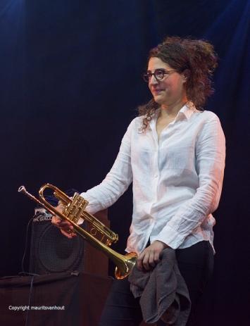 Gent, 7 juli 2017.Tijdens het jaarlijkse Gent Jazz festival treedt French Quarter op. Foto: Airelle Besson