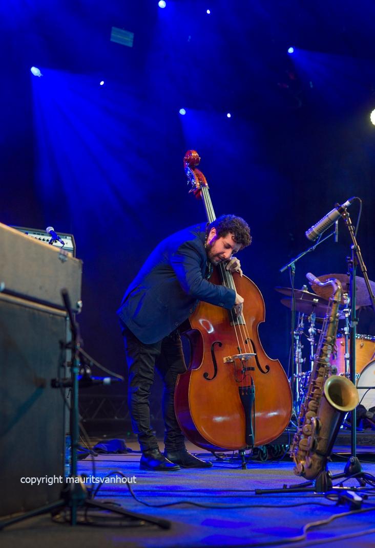 Gent, 8 juli 2017. Tijdens het jaarlijkse Gent Jazz Festival treedt het Omer Avital Quintet op