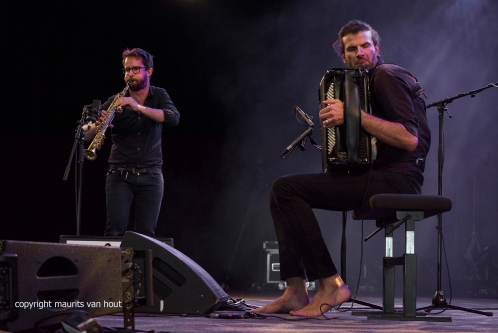 Vincent Peirani en Emile Parisien live at Gent Jazz 2017