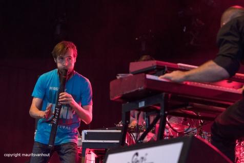 Tijdens het jaarlijkse Gent Jazz festival treedt Stuff op. foto: Andrew Claes