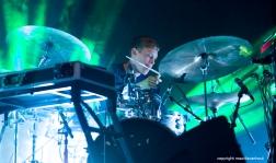 Tijdens het jaarlijkse Gent Jazz festival treedt Stuff op. foto: drummer Lander Gyselinck