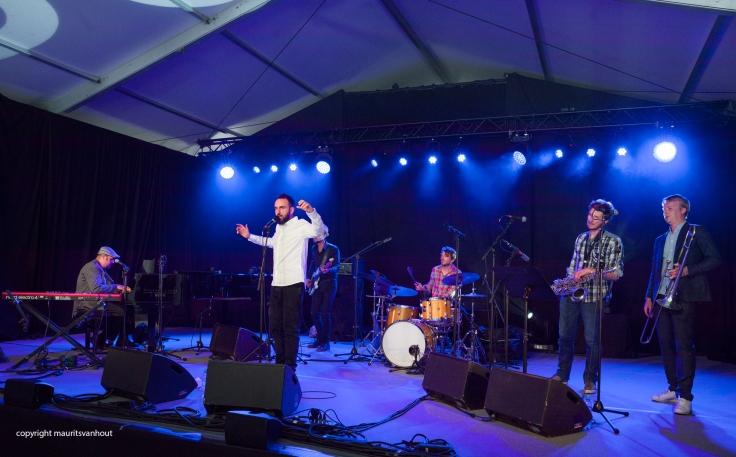 """Yves Peeters met zijn """"Gumbo"""" tijdens Gent Jazz 2017"""