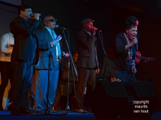 Cuba, Varadero. Buena Vista Social Club performs at the American Convention centre in Varadero with Omara Portuondo