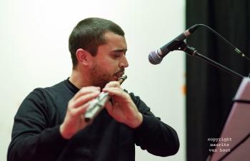 Thomas van Geelen en muzikanten tijdens Sound of Europe festival in Breda. foto: Moisés Toscano Fuentes