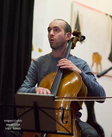 Thomas van Geelen en muzikanten tijdens Sound of Europe festival in Breda. foto: Thomas van Geelen
