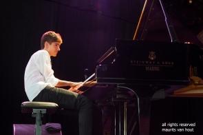 Antwerpen, 12 augustus 2018. Tijdens het jaarlijkse Jazz Middelheim treden Joey Baron, Bram de Looze en Robin Verheyen op. foto: Bram de Looze