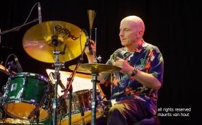 Antwerpen, 12 augustus 2018. Tijdens het jaarlijkse Jazz Middelheim treden Joey Baron, Bram de Looze en Robin Verheyen op. foto: Joey Baron