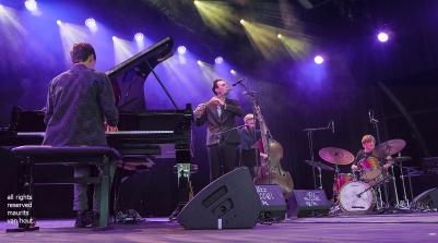 Antwerpen, 11 augustus 2018. Tijdens het jaarlijkse Jazz Middelheim treedt Ben Sluijs op met zijn kwartet