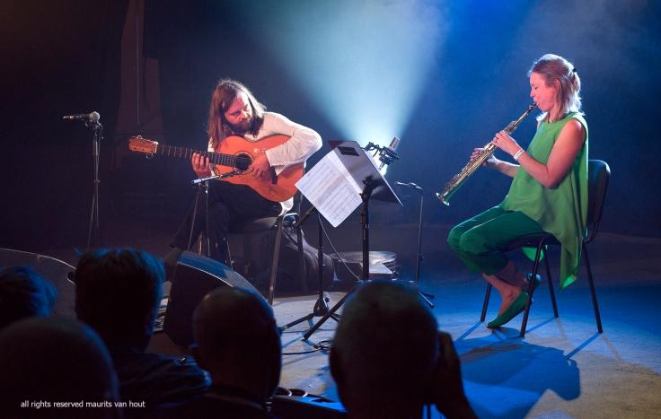 Myrddin and Tineke Postma by jazzphotographer maurits van hout