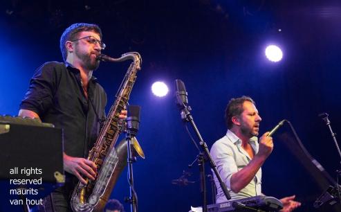 Antwerpen, 9 augustus 2018, Tijdens het jaarlijkse Jazz Middelheim treedt Taxiwars op.