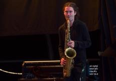 Tijdens het jaarlijkse Jazz Middelheim in Antwerpen treedt het Ragnini trio op met als speciale gasten Bojan Z op toetsen en zangeres Sawani Mudgal. foto: Nathan Daems